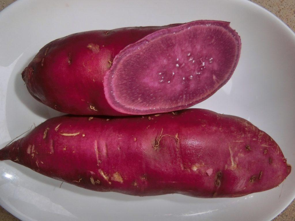 紫芋の断面